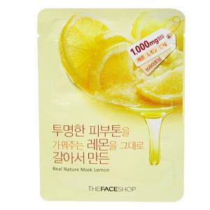 Real Nature Mask Lemon - Mặt Nạ Chanh