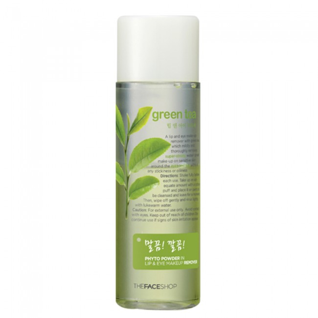 Tẩy trang mắt Phyto Powder In Lip & Eye Makeup Remover Green Tea