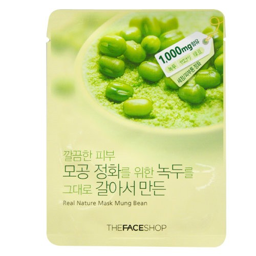 Real Nature Mask Mung Bean - Đậu Xanh